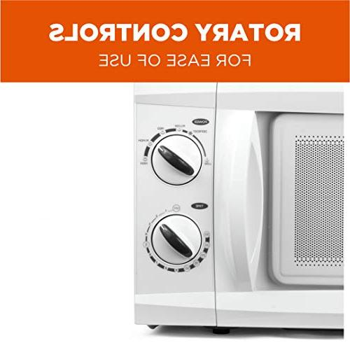 Commercial Chef Top Rotary Oven 0.6 Cubic 600 Watt, White,