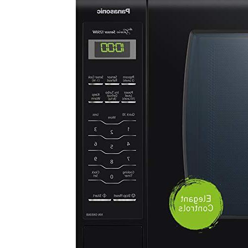 Panasonic Microwave Black Countertop Technology Genius Sensor, 2.2 Cu.