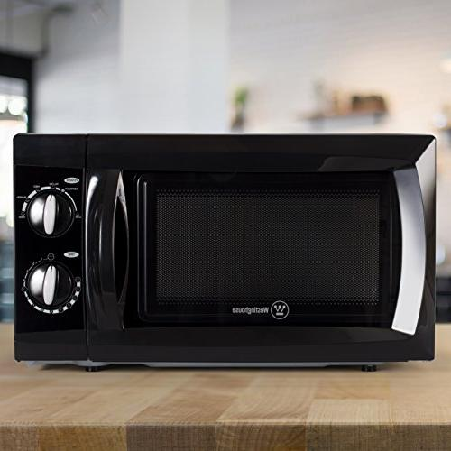 Westinghouse Watt Counter Microwave Oven, Cubic Feet, Black