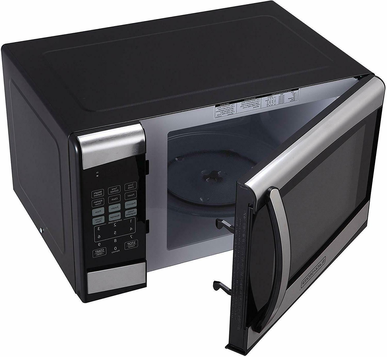 BLACK+DECKER cu 900W Microwave Stainless EM925AZE-P