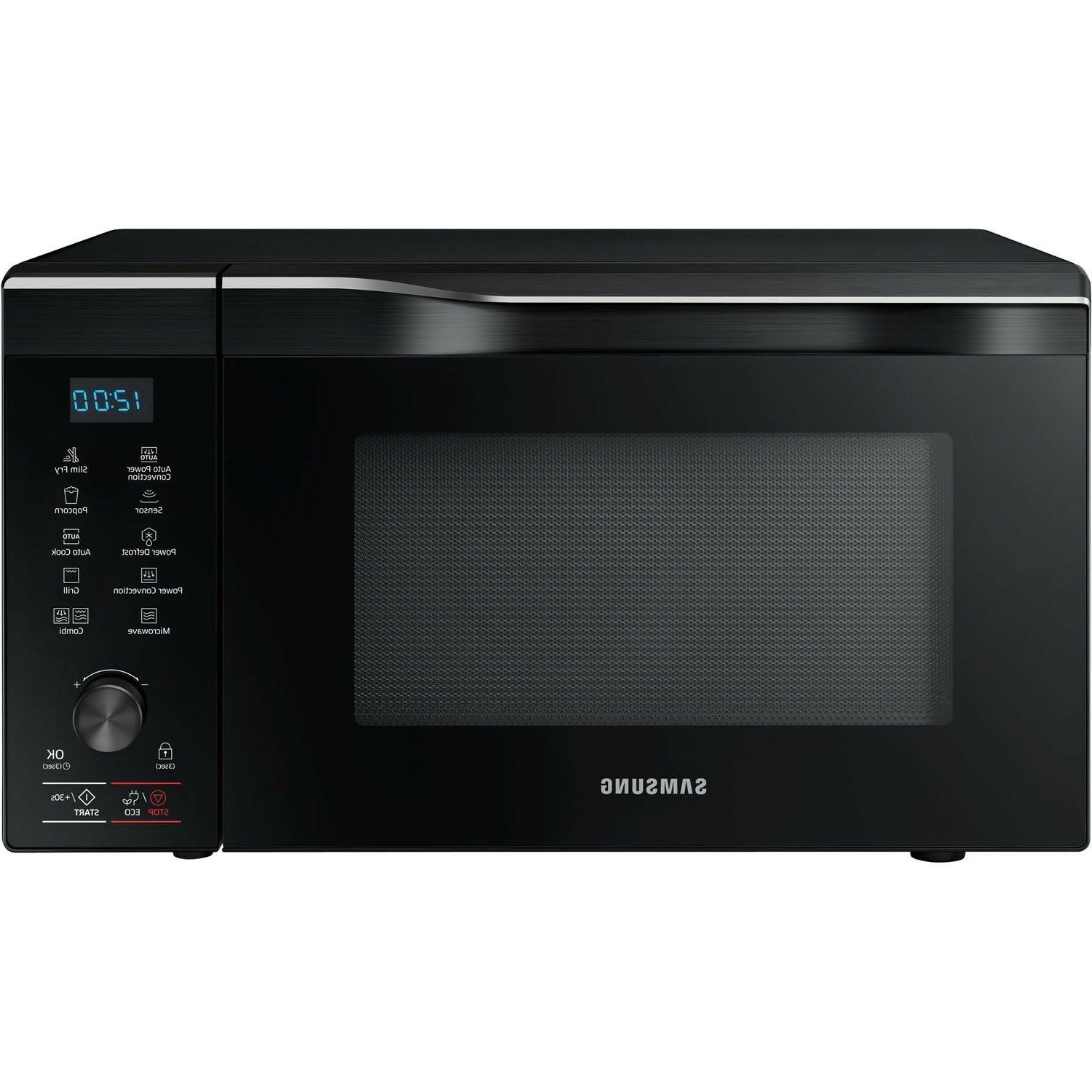 black stainless steel counter top microwave 1