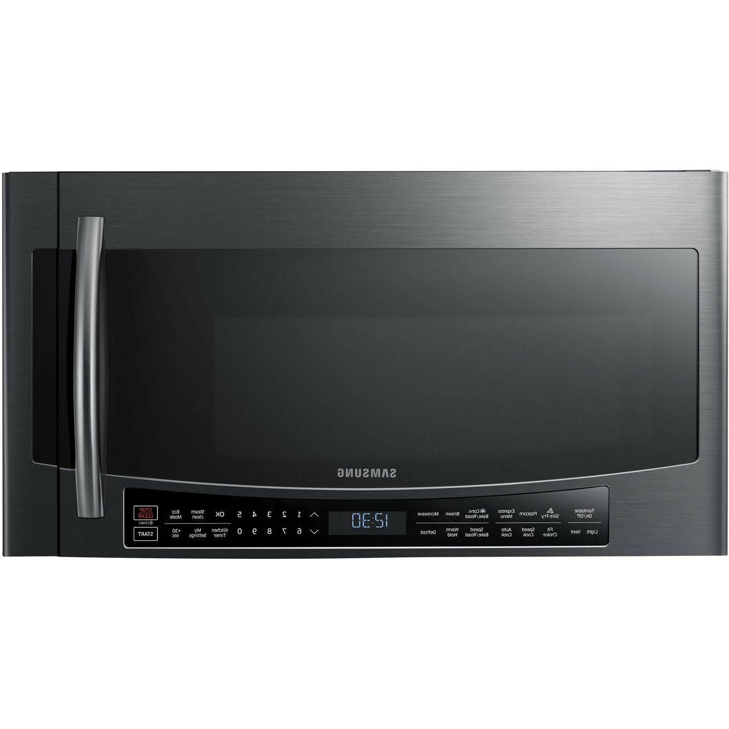 Samsung Black Stainless Steel Over-The-Range Convection Micr