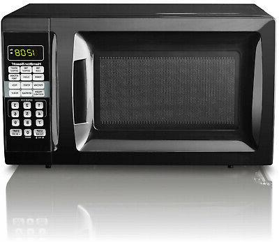 Countertop Cu. Red Microwave Oven Digital LED Small