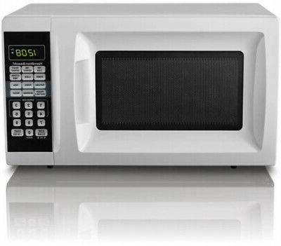 Countertop 0.7 Cu. Red Microwave Oven 700W Digital