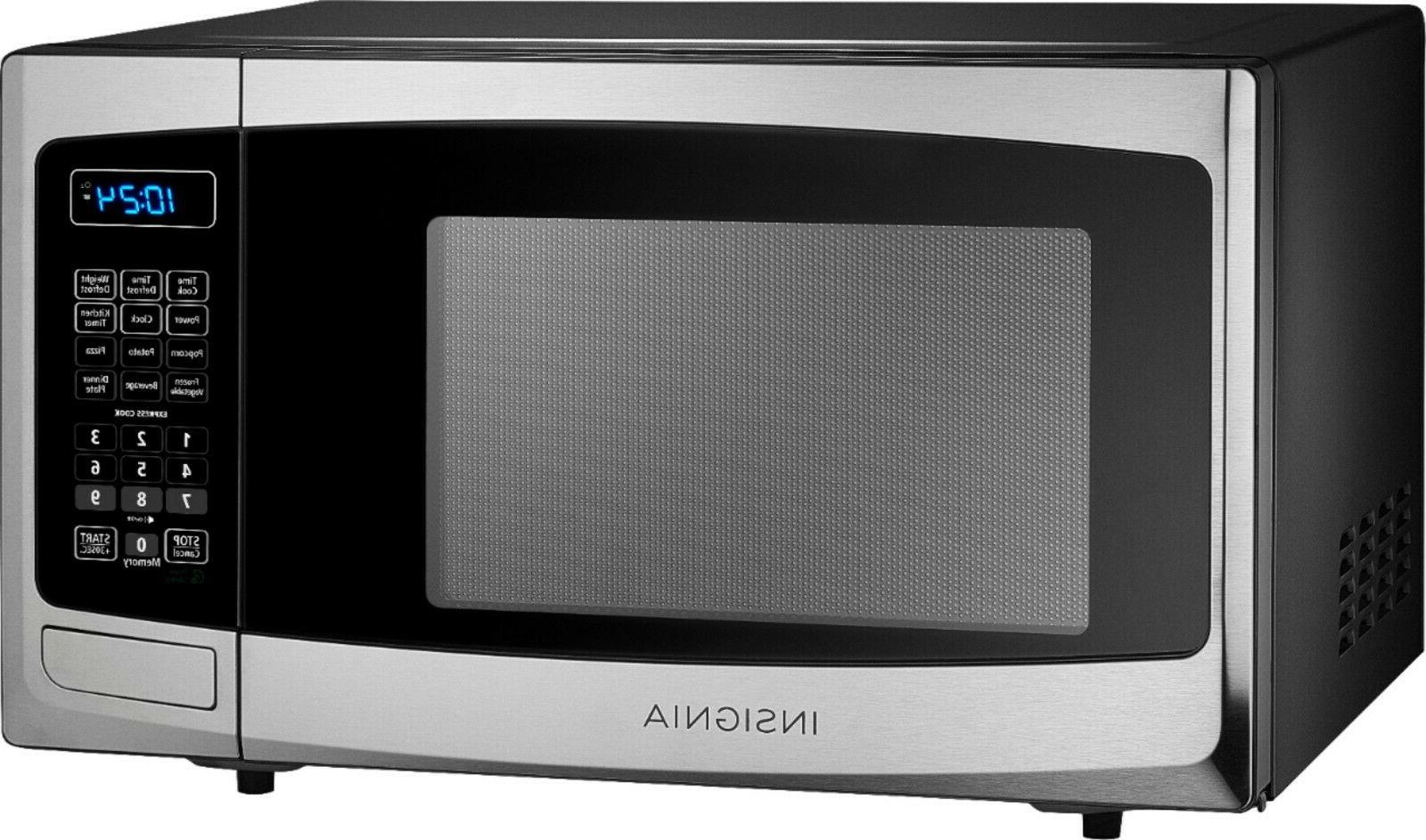 Compact Microwave Ft. Electronic Display One-touch But
