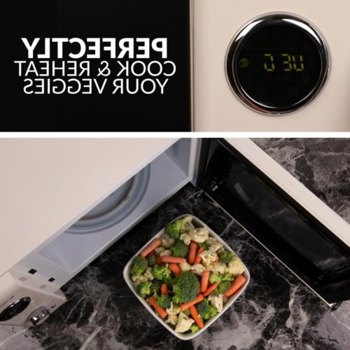 Countertop Microwave Small cu. ft. Retro Design Easy Settings