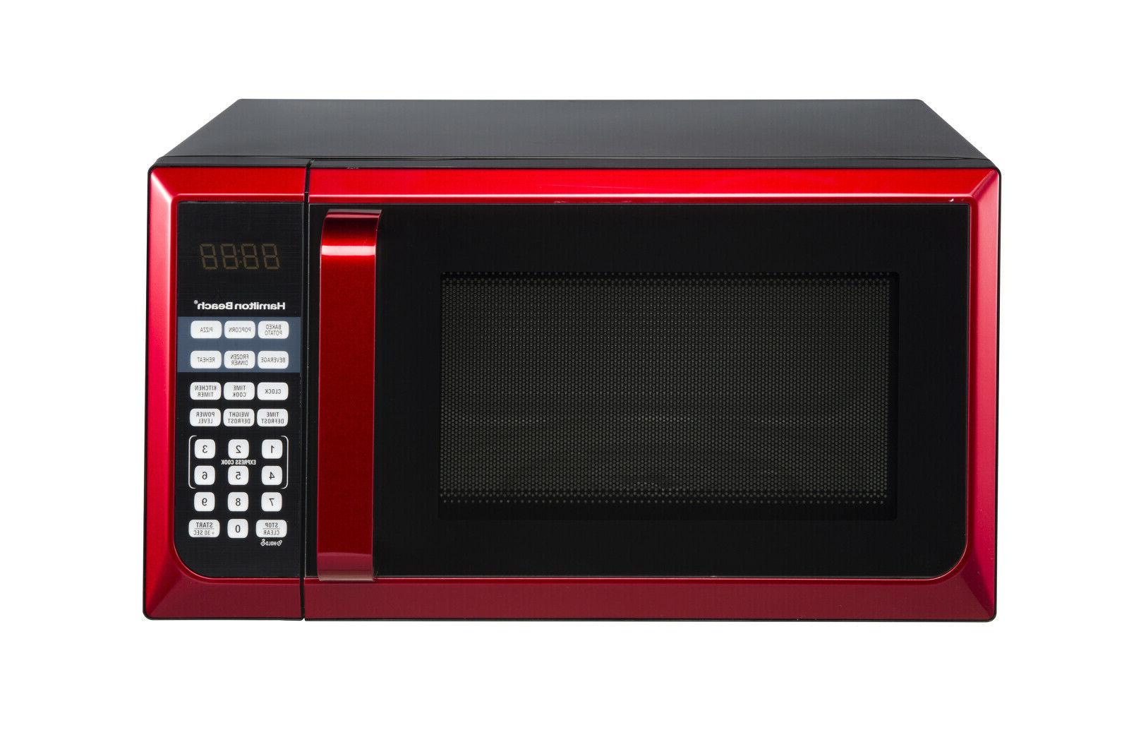 Countertop Microwave Home LED 900W Cu Ft. RED