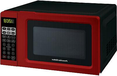 Kitchen Office Microwave Digital Countertop Red