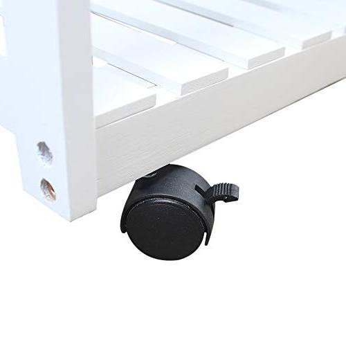 Binlin Cart,Rolling Kitchen Trolley Drawers/Baskets Stand Countertop
