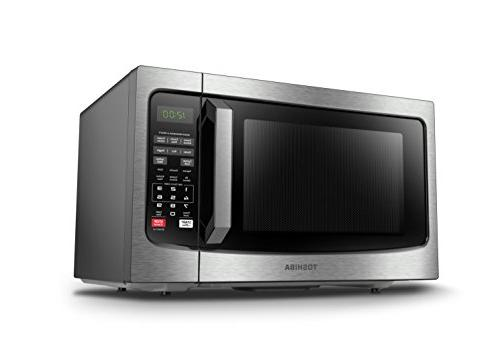 Toshiba EM131A5C-SS Microwave with Sensor, Clean and 1.2 Cu.ft, 1100W,