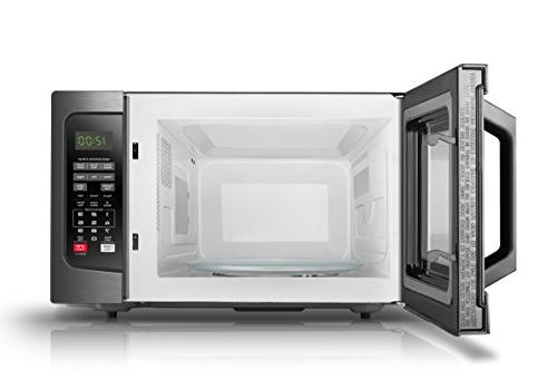 Toshiba Microwave Oven with Sensor, Easy and On/Off, Cu.ft, Steel