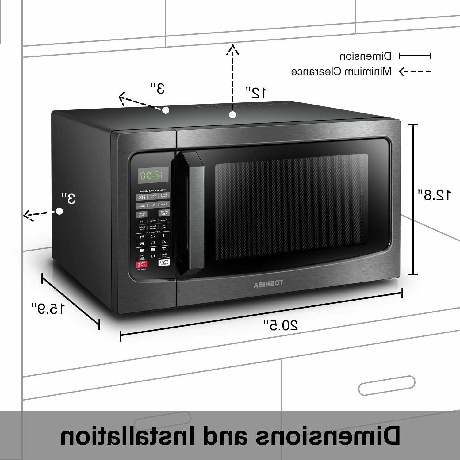 Toshiba EM131A5C-BS 1100W Convection Microwave Oven - Stainl