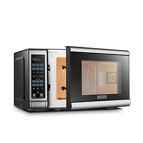 BLACK+DECKER EM720CB7 Oven with Door,Child Lock,700W, Stainless Steel