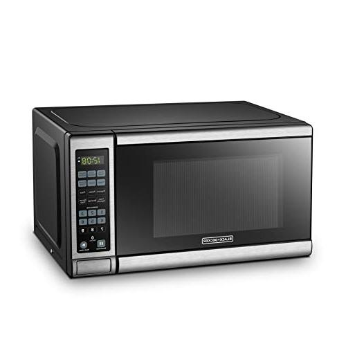 BLACK+DECKER EM720CB7 Microwave Oven with Door,Child Safety Steel Cu.Ft