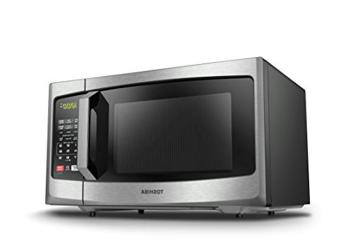 Toshiba Microwave with On/Off Mode and 0.9 ft, Stainless Steel