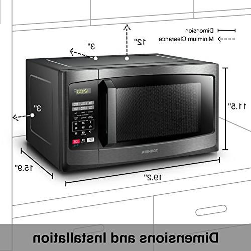 Toshiba Em925a5a Bs Microwave Oven With Sound On Off Eco