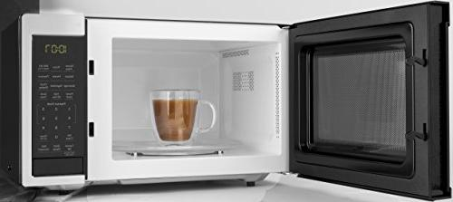 GE Microwave Oven, Works Alexa, Scan-To-Cook Technology, Sensor, Easy Interior, .9 Cu.ft/900W, Stainless