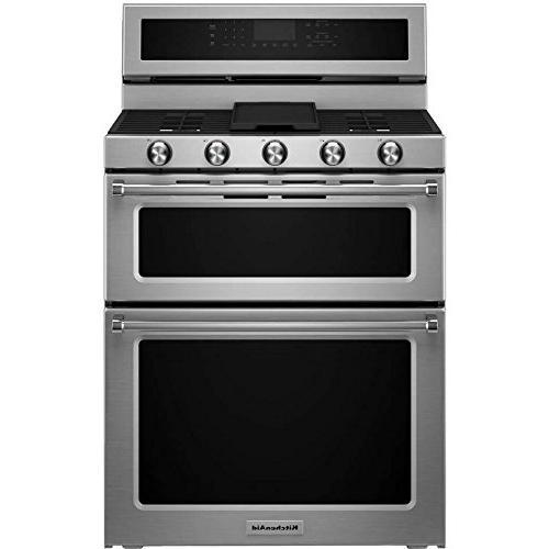 kfgd500ess double oven gas freestanding