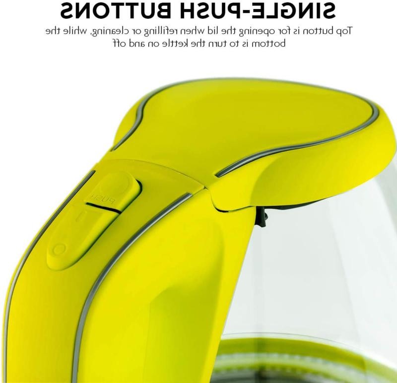 Ovente Series 1.5L Glass Green Electric