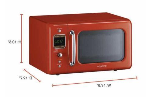Daewoo KOR-7LREM Retro Oven Mint Green/Red/White