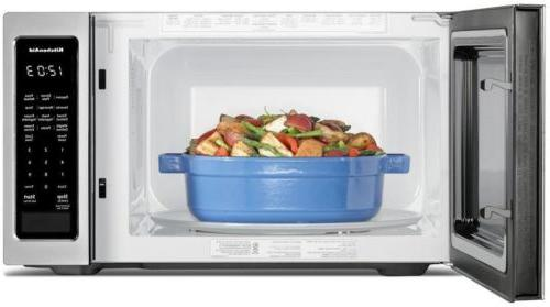 LED Stainless 1.6 Countertop Microwave with Clock Timer