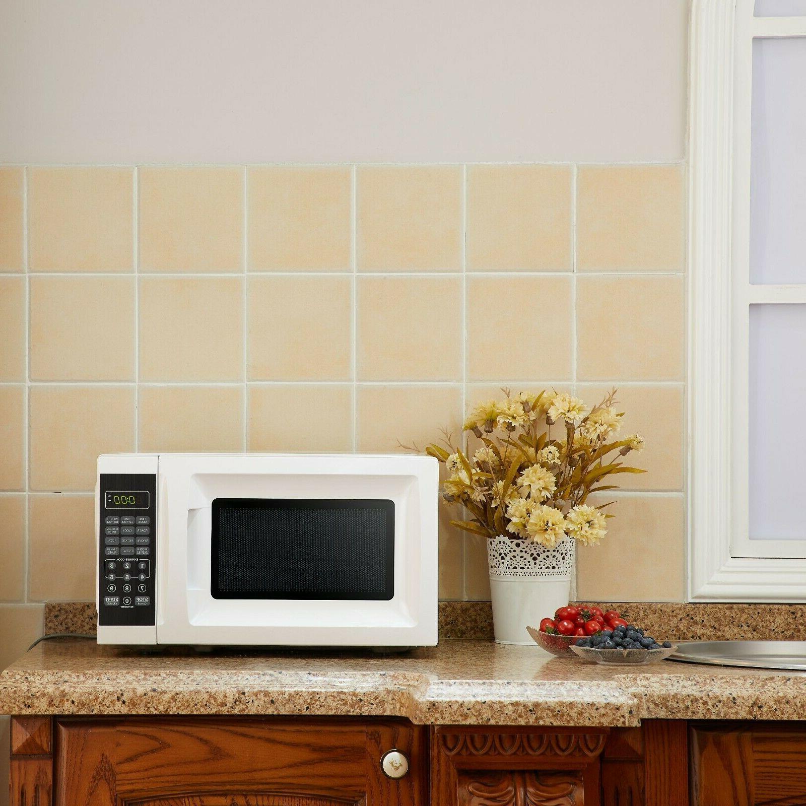 Mainstays 0.7 700W Black Microwave 10 New