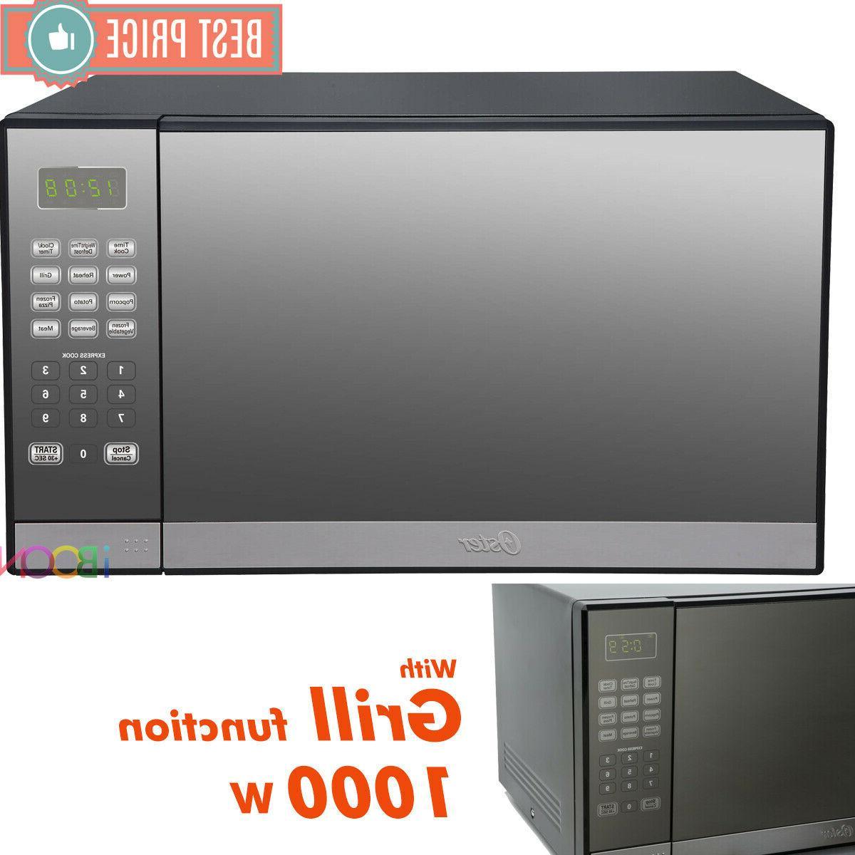 microwave oven countertop stainless steel mirror digital