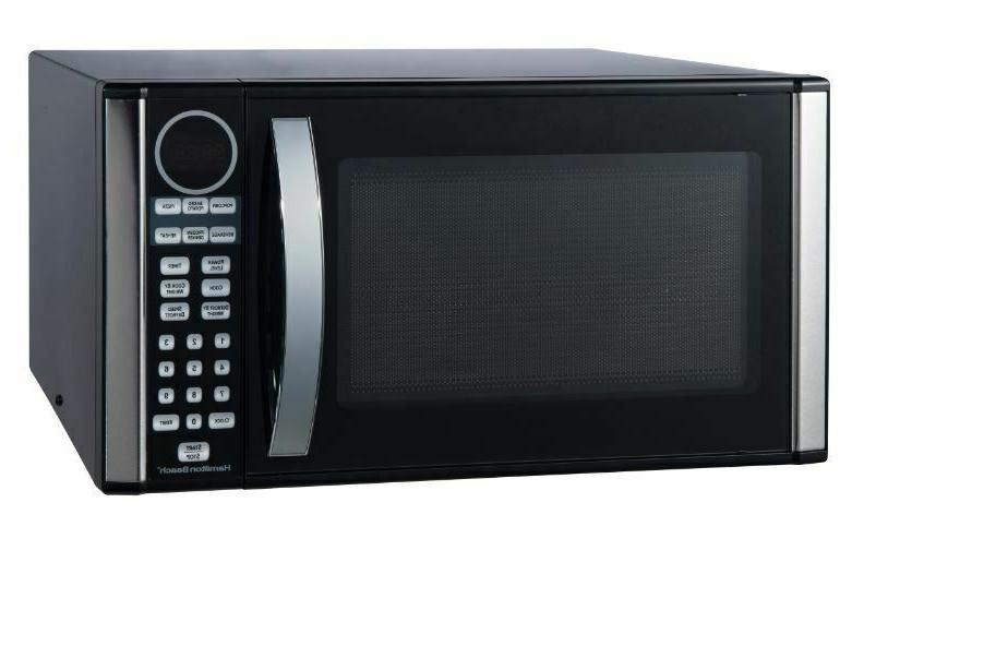 Microwave Countertop Steel Large Capacity Modern