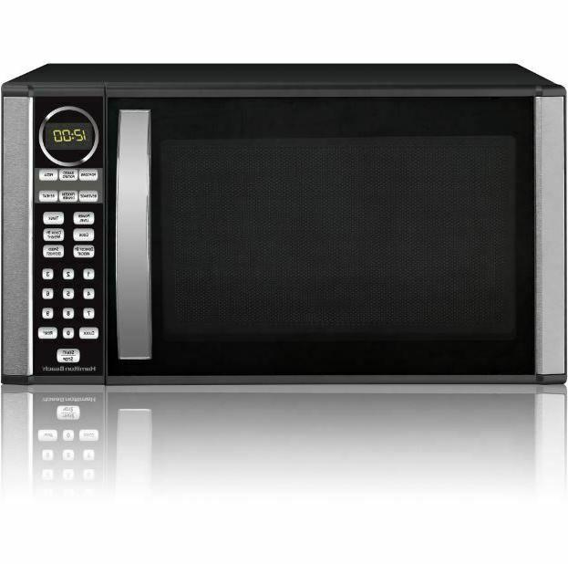 microwave oven high power countertop stainless steel