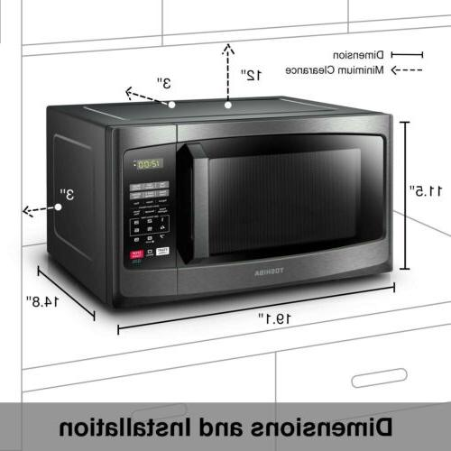 Microwave Oven with Sound LED Stainless