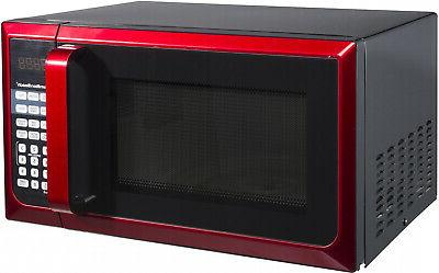 Hamilton Cu. Ft. touch-pad Oven, Red