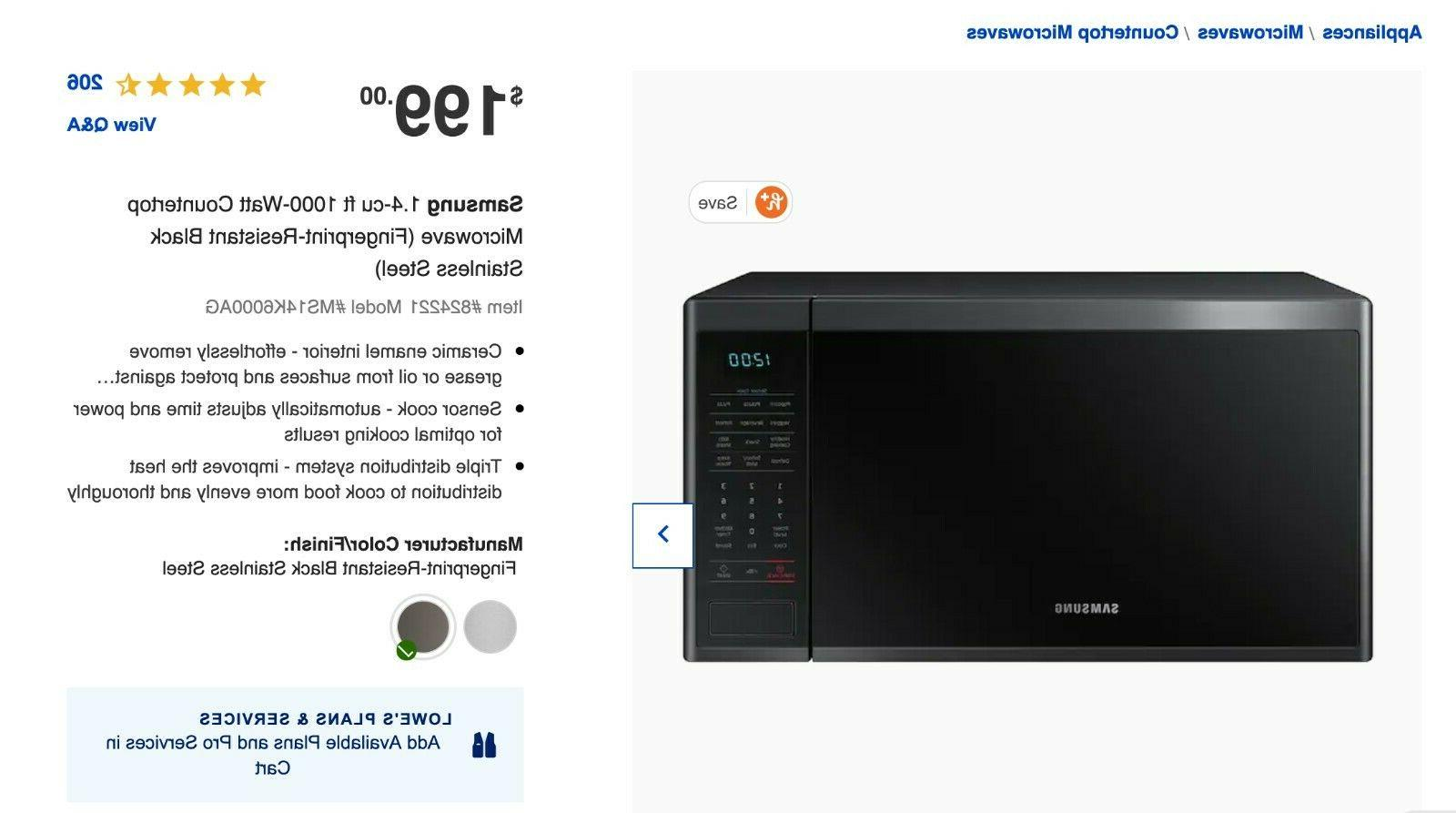 ms14k6000ag aa 1 4 cu ft counter