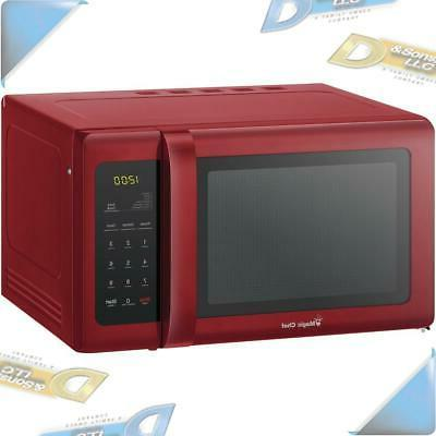new 9 cubic ft countertop microwave red