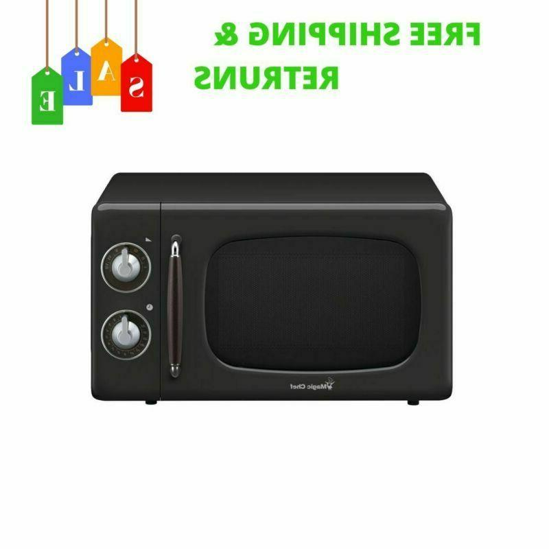 NEW Retro Style 0.7 Cu. Ft Countertop Small Microwave With B