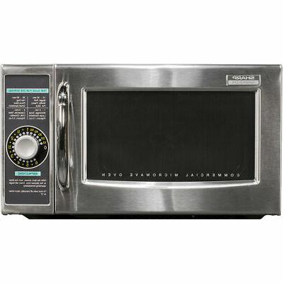 Sharp R 21lcfs Medium Duty Commercial Microwave Oven With Dial