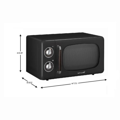 Retro Classic Small Kitchen Appliance Microwave Black
