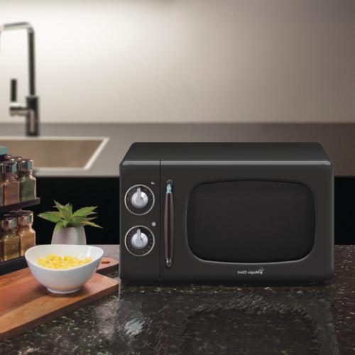 Retro Classic Small Microwave in Black