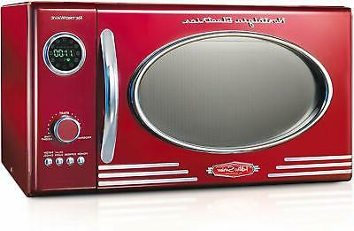 Nostalgia RMO4AQ 0.9 Countertop Microwave Oven,