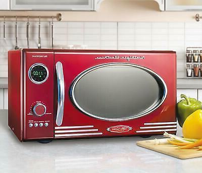 Nostalgia RMO4AQ Large 0.9 Countertop Microwave 12