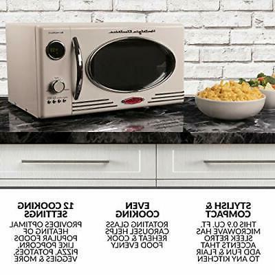 Nostalgia Cubic Foot 800-Watt Microwave
