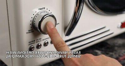 Nostalgia RMO4IVY Retro Cubic Foot 800-Watt Microwave