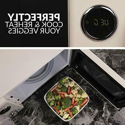 Nostalgia Cubic Foot 800-Watt Countertop Microwave
