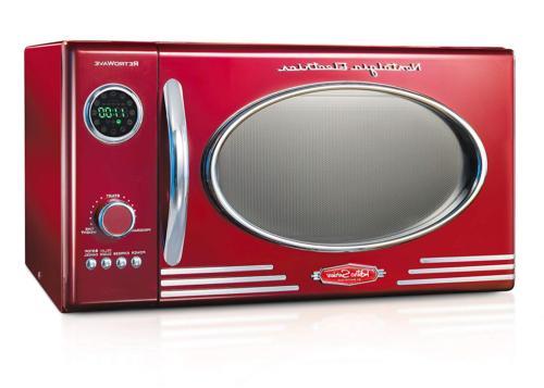 Nostalgia RMO4RR Retro Large 0.9 cu ft, 800-Watt Countertop