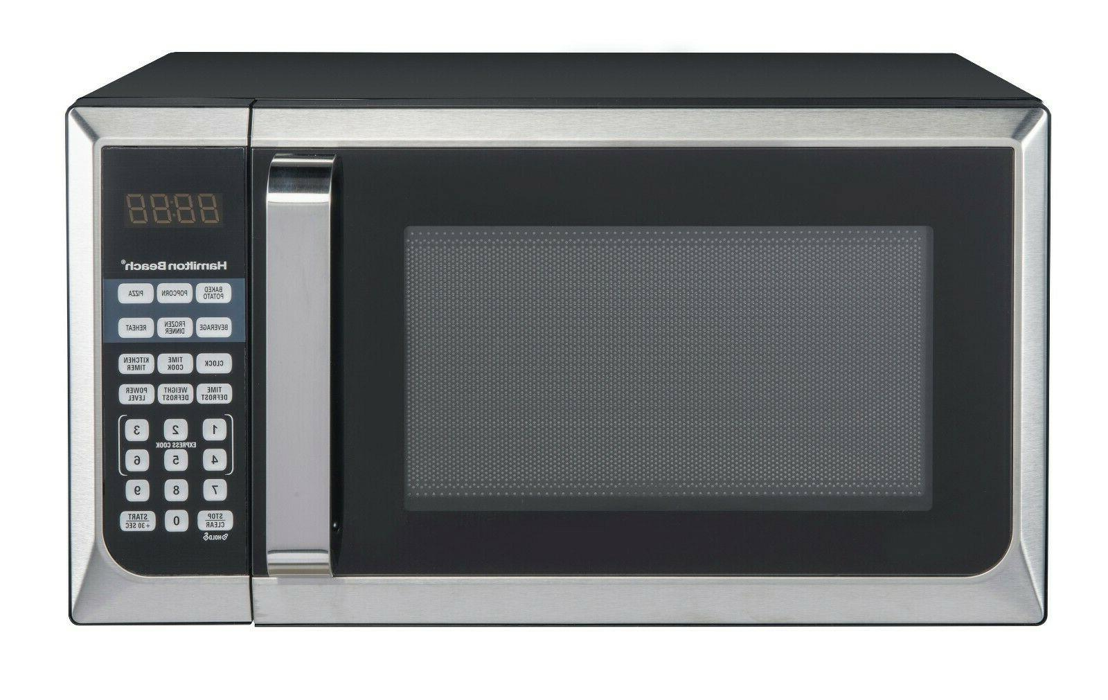 Microwave Oven Stainless Steel Countertop 0 9 Cu Ft Beach Ha