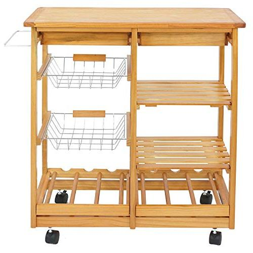 BBBuy Rolling Storage Cart Trolley Stand Counter Top Rack w/Drawers