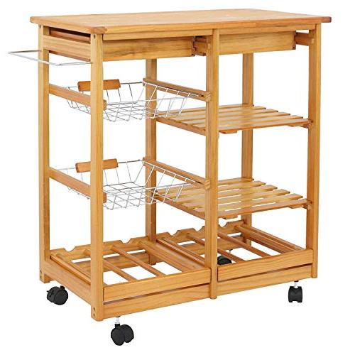 BBBuy Kitchen Storage Trolley Basket Top Rack