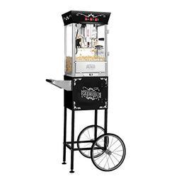 Matinee Movie Bar Style Popcorn Machine in Black