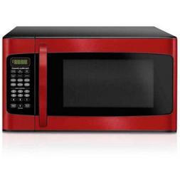 Hamilton Beach 1.1 cu ft Microwave, Red