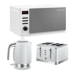 Microwave Digital Kettle Toaster Set White RHM2079A Russell