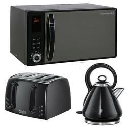 microwave kettle toaster black set on sale